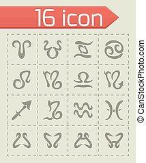 Vector Zodiac symbol icon set