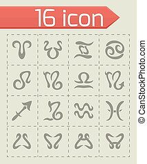Vector Zodiac symbol icon set