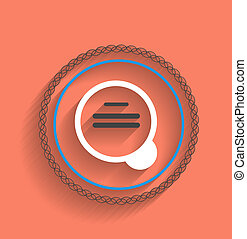 Vector zoom icon modern flat design