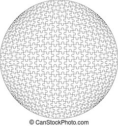 3d puzzle ball in color 21