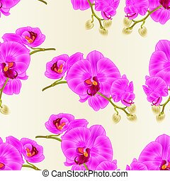 vector.eps, blumen, lila, seamless, beschaffenheit,...