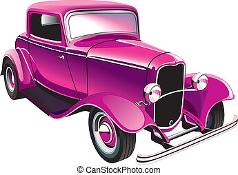 vintage muscle car - Vectorial image of glamour vintage...