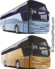 large bus - vectorial image of large bus, executed in two ...