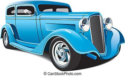 light blue hot rod - vectorial image of light blue hot rod, ...
