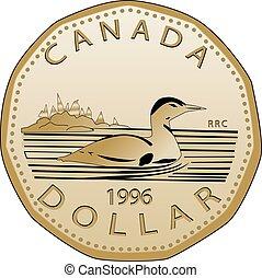 vectorized, dólar canadiense, completamente