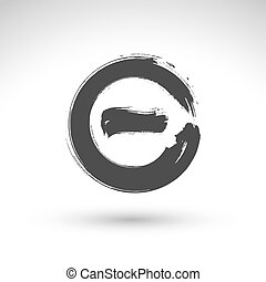 vectorized, hand, afgetaste, borstel, getrokken, bevestiging, tekening, pictogram