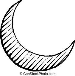 Vectorized Ink Sketch of Moon