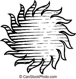 Vectorized Ink Sketch of Sun