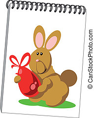 Notes with hare in color 07