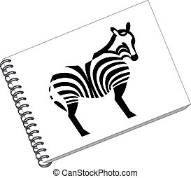 Notes with zebra in color 06