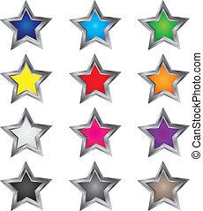 vectors, étoile, coloré