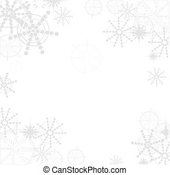 vectors, 雪片, 背景