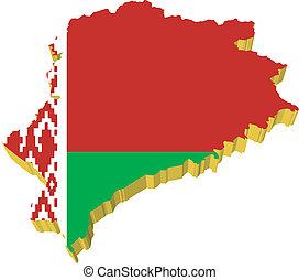 vectors 3D map of Belarus