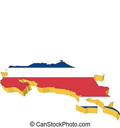 vectors 3D map of Costa Rica