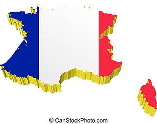 vectors 3D map of France