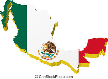 3D map of Mexico