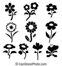 vectors, floral
