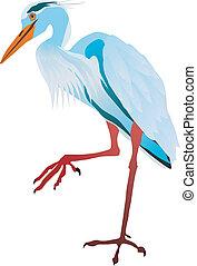 vectors gray heron