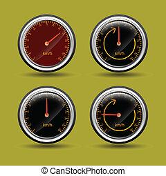 vectors, hastighet, meter