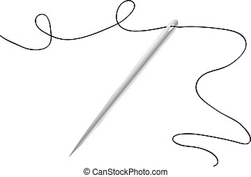 vectors illustration shows the needle and thread