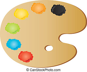 painter's palette - vectors illustration shows the painter's...