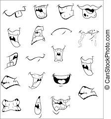 vectors, karikatúra, majszol