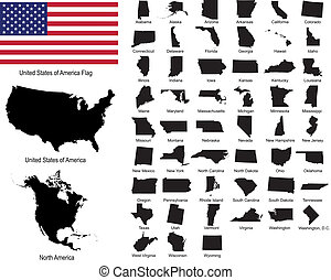 Vectors of USA states