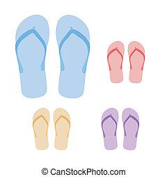 vectors, pantofole