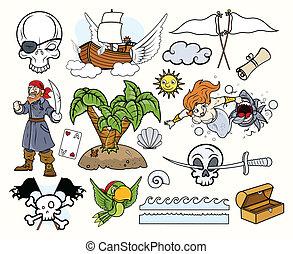 vectors, piratas