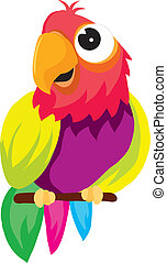 parrot - vectors represents a color illustration of a parrot...