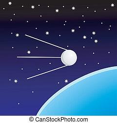 sputnik - vectors sputnik