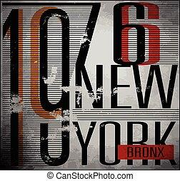 vectors, t-shirt, typografie, universiteit, york, grafiek,...