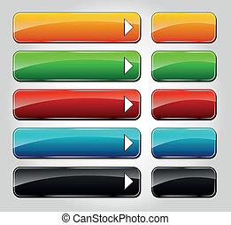 Vectors web buttons
