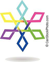 Vectro Design of Tetragon Star