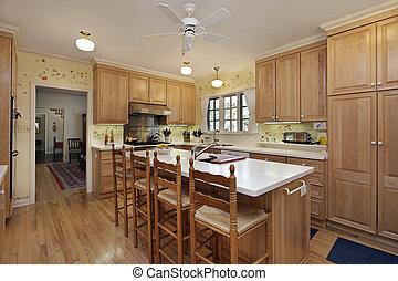 ved, ek, cabinetry, kök