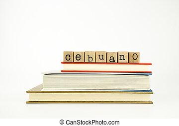 ved, ord, språk, frimärken, böcker, cebuano