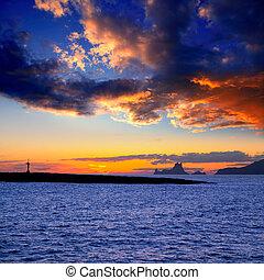 vedra, isola, ibiza, tramonto, gastabi, isolotto, es