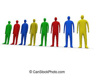 veelkleurig, #1, mensen