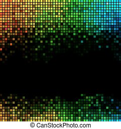 veelkleurig, abstract, lichten, disco, achtergrond