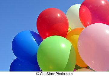 veelkleurig, ballons