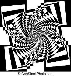 veelvoudig, abstract, perspectief, arabesk, toren, trap, binnen