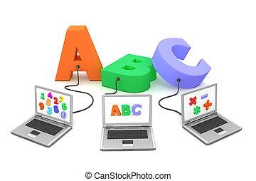 veelvoudig, bekabeld, om te, alfabet