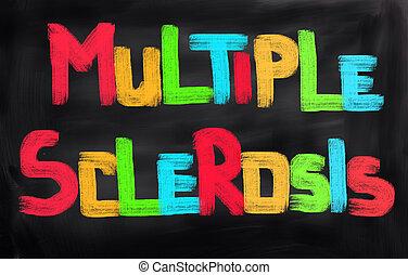veelvoudig, concept, sclerose