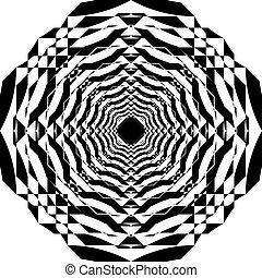veelvoudig, ruimte, abstract, feitelijk, perspectief, arabesk, toren, binnen, structuur