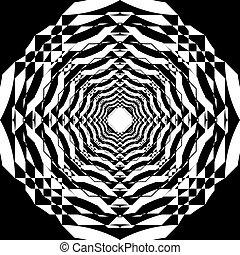 veelvoudig, ruimte, abstract, negatief, perspectief, arabesk, toren, binnen, structuur