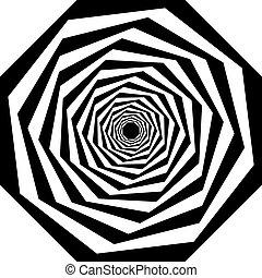 veelvoudig, trap, abstract, perspectief, arabesk, kolken, octogon