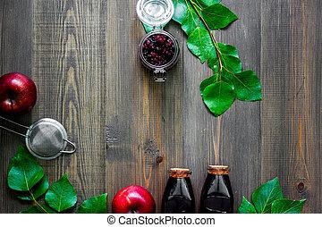 veenbes, morse, op, wooden table, achtergrond, hoogste mening, copyspace