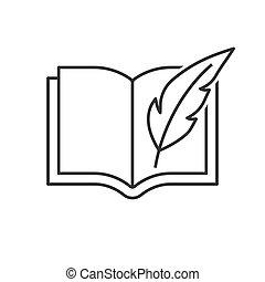 veer, boek, pen
