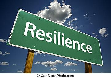 veerkracht, wegaanduiding