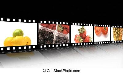 veg, assortiment, fruit